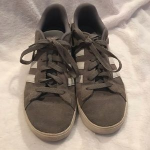 Tennis shoe Blowout!! Grey suede ADIDAS size 6